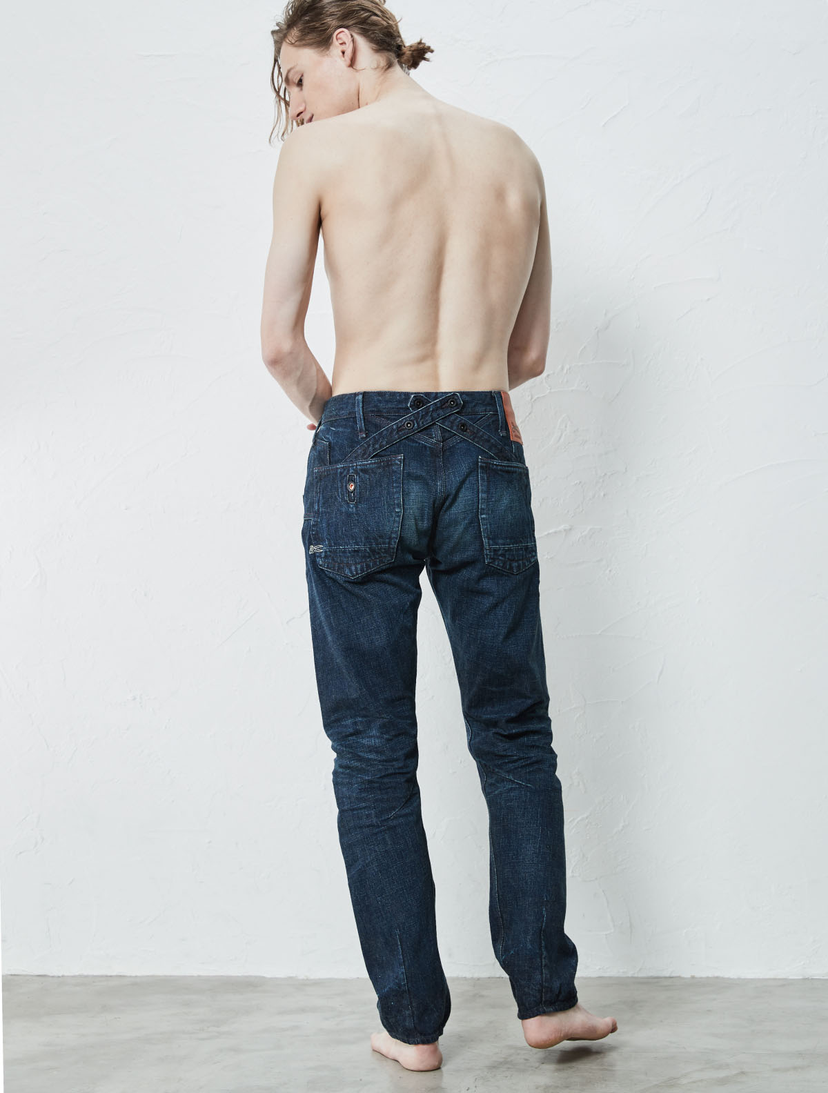CROSS BACK TAPERED PANTS