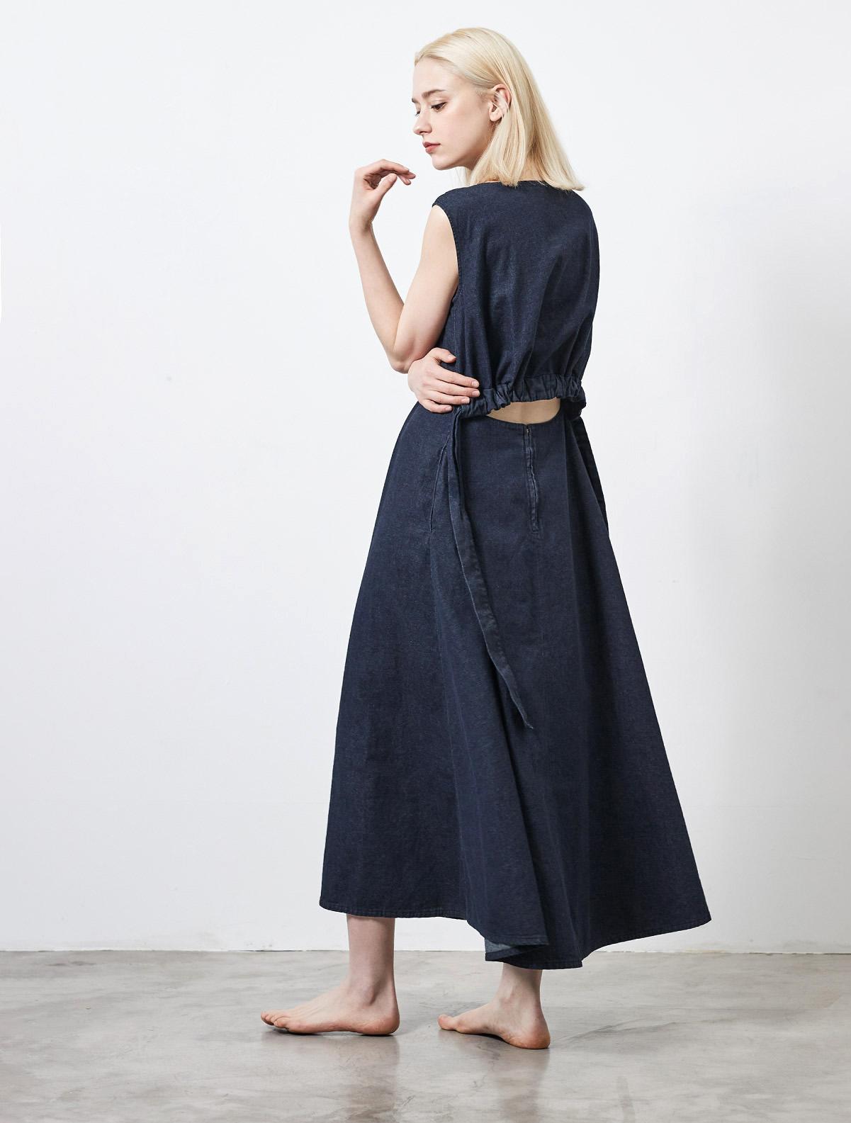 OPEN BACK LONG DRESS